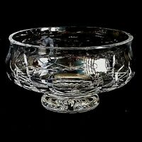 """1 (One)WATERFORD LISMORE Cut Lead Crystal  5"""" Footed Bowl- - Signed"""