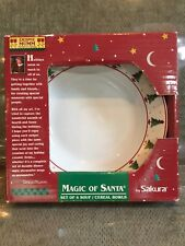 SET/4 Sakura MAGIC OF SANTA '98 Christmas Tree DEBBIE MUMM SOUP/CEREAL Bowls NEW
