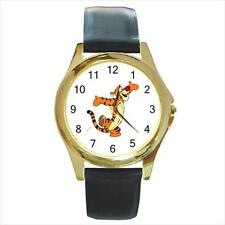 Brand New Tigger #2 Gold-Tone Leather Band Quartz Watch