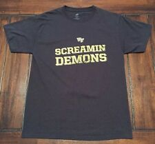 NCAA Football Wake Forest University Screamin Demons Fight Song Shirt Adult M