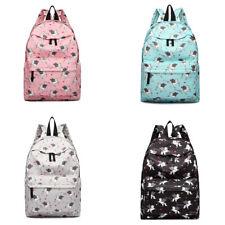 Travel Rucksack Unicorn Print Canvas Boys Girls Retro School Backpack Large