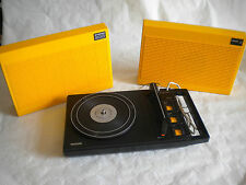 1970s Orange Designer Philips 200 Stereo Portable vintage Record player