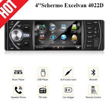 4''Schermo Excelvan 4022D Auto Autoradio Bluetooth Stereo 1DIN Supporta FM/Call