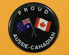 PROUD AUSSIE - CANADIAN FRIDGE MAGNET AUSTRALIAN SOUVENIR GIFT CANADA BLACK