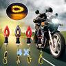 4x Red 12V Motorcycle Turn Signal Light LED Indicator Blinker Bike Lamp