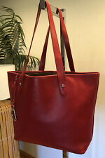 RALPH LAUREN NEWBURY True Red Saffiano Leather Tote Shopper Leisure Bag MINT
