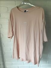 H&M Mens Divided T-shirt Pink Top Embroidered Size XL Streetwear H M