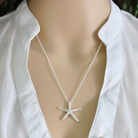 New Fashion Jewelry Charm Elegant Silver Beautiful Starfish Pendant Necklace Hot