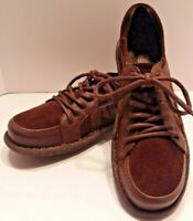 Women's 7.5 BORN D12726 Sommer Rust Espresso Suede & Leather Lace Shoes Oxfords