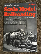 Book Introduction To Scale Model Railroading By Linn H Wescott 1967 Edition Exc
