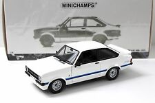 1:18 Minichamps Ford Escort RS II 1800 White 1975 RHD New chez Premium-modelcars