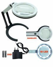 Standleselupe Helle Beleuchtung  Lupenlampe Maniküre Standlupe mit Licht 10LED
