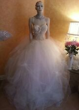 Candlelight Goddess Sheer Bead Corset Tulle Tutu Skirt Bridal Wedding Ball Gown