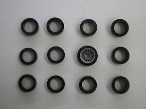 CARRERA SERVO 140 V1 12 Stück Vorderreifen Reifen Supergripp Neu !