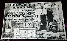 RARE 1996 IGNITE FLYER EYELID TEZ ACRIFICO PARADES END QFACTOR @ E.L.A. HARDCORE