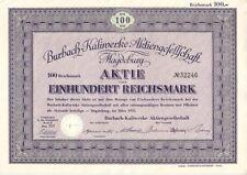 Burbach-Kaliwerke AG  1935 Magdeburg