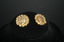 ~ Original Vintage LISNER Gilt Clip Earrings ~