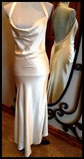David Cardona Couture Size 8 (fits Size 6) Cream Backless Marilyn Monroe Dress.