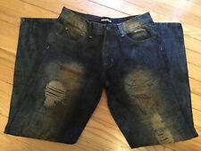 IMPERIOUS Mens Medium blue distressed denim 👖 jeans 32/32