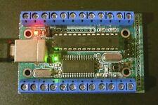 USB-µPIO / CLEAR; AVR Board mit Schraubklemmen