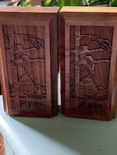 Lasercraft Laser - Geese Flying Over Trees- Beautiful Bookends