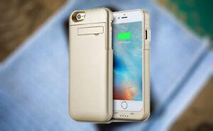 Portable Battery External Backup Charging Case iPhone8 7 SE 2020 Power Bank Gold