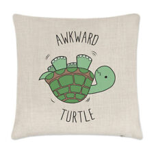 Awkward Turtle Linen Cushion Cover - Pillow Funny Tortoise