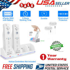 Rechargeable Battery + Charger for Nintendo Wii Remote Bundle US Stock