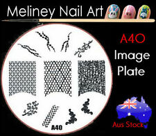 A40 Stamping Nail Art Image Plate Design Round XL Stencil metal Halloween
