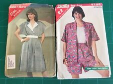 2 X Vintage Sewing Design Clothing Pattern By Bella See & Sew 5166 4184