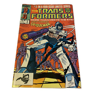 The Transformers Comic Book #3 Marvel Comics 1984 VG/FN Guest Star Spider-Man