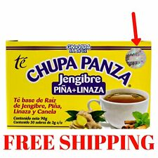 TEA CHUPA PANZA Jengibre, Pina, Linaza Te Ginger, Cinnamon Pineapple 30 Day