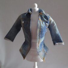 NEW Barbie Style Glam Luxe Doll Blue Denim Open Shirt ~ Fashionista Clothing