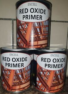 Excell Red Oxide Primer Metal Iron Steel Prevents Rust Anti-Corrosive 750ml