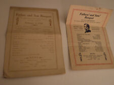 Boy Scout St. Paul's Mn. Troop #33 & #62, Father & Son Banquet Menus, 1928 &1929