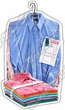 """Dry Cleaning Laundry Clean Clothing Shirt Car Bumper Vinyl Sticker Decal 3""""X6"""""""