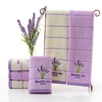 34*75cm Cotton Lavender Face Towel Soft Absorbent Women Bathroom Bath Accesory
