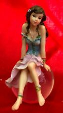 Beautifully Detailed Miniature FAIRY Sitting On Glass Ball
