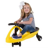Ride on Toy Zig Zag Twistcar Wiggle No Batteries Kids Energy Operated Yellow