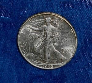 United States 1945-P AU Walking silver 50 cents