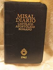 1962 Misal Diario Catolico Apostolico Roma for the Traditional Latin Mass Black