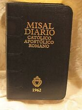 1962 Misal Diario Catolico Apostolico Roma for the Traditional Latin Mass Black