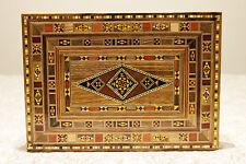 CASSETTA per gioielli legno CASSETTA forza a mano con madreperla Siria, damaskunst K 2-3-43