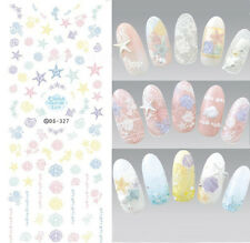 Colorful Sea Water Decal Nail Art Transfer Stickers Manicure Tattoo DS327