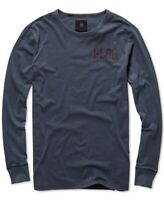 G-Star Raw Mens T-Shirt Mazarine Blue Large L Graphic 2 Crewneck Tee $70 072