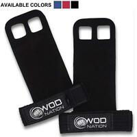 WOD Nation Leather Gymnastics Hand Grips by Fits Men & Women - Black - Medium