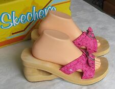 Skechers Cali damas mulas Sandalias de cuña de color de rosa caliente Talla 8 EU 41