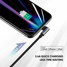 90 degree Right Angle Lightning Cable USB Charger Fast Charging for iPhone uk