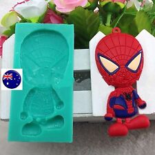 Spiderman Chocolate Cake Candy ice Cube Cookie Silicone Mold Mould Decorating