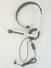 Official Microsoft Xbox 360 XBOX Live Wired Chat Mono Headset White / Grey 2.5mm